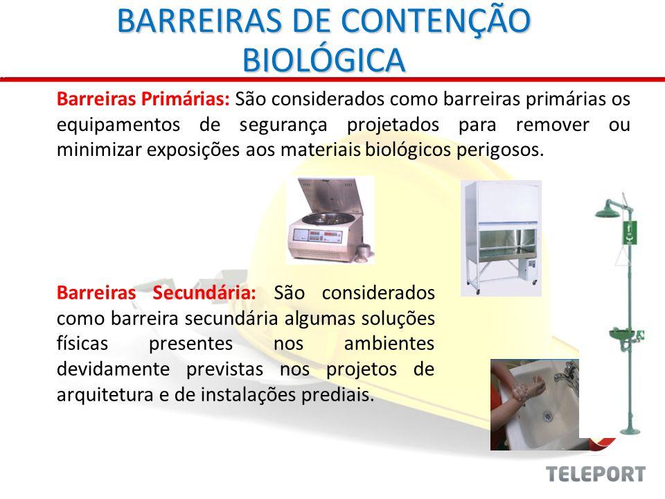 BARREIRAS DE CONTENÇÃO BIOLÓGICA