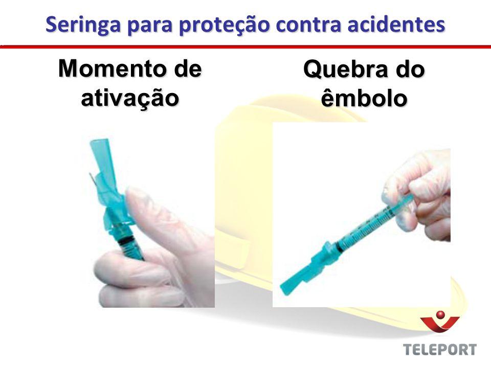 Seringa para proteção contra acidentes