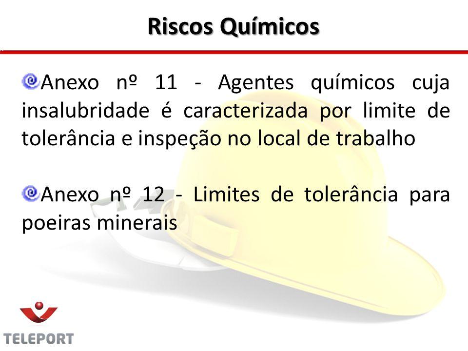 Riscos Químicos Anexo nº 11 - Agentes químicos cuja insalubridade é caracterizada por limite de tolerância e inspeção no local de trabalho.