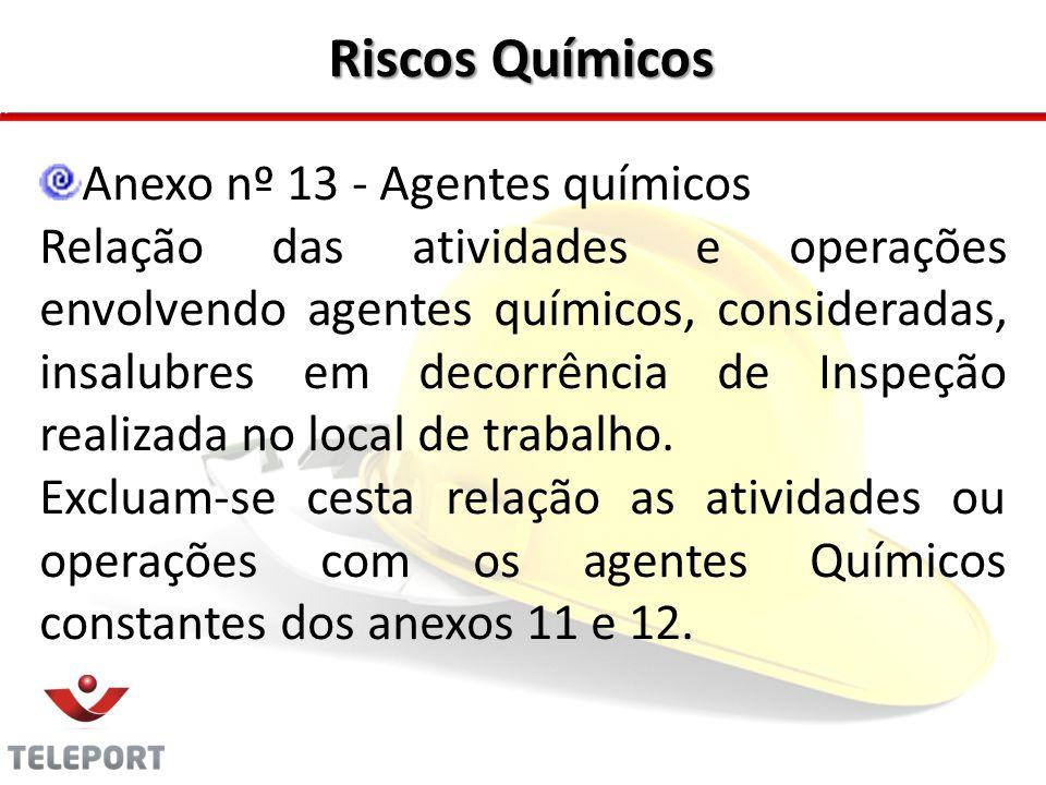 Riscos Químicos Anexo nº 13 - Agentes químicos