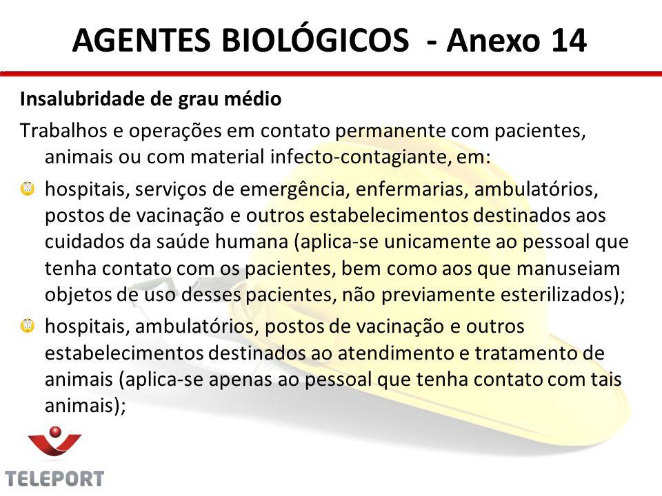 AGENTES BIOLÓGICOS - Anexo 14