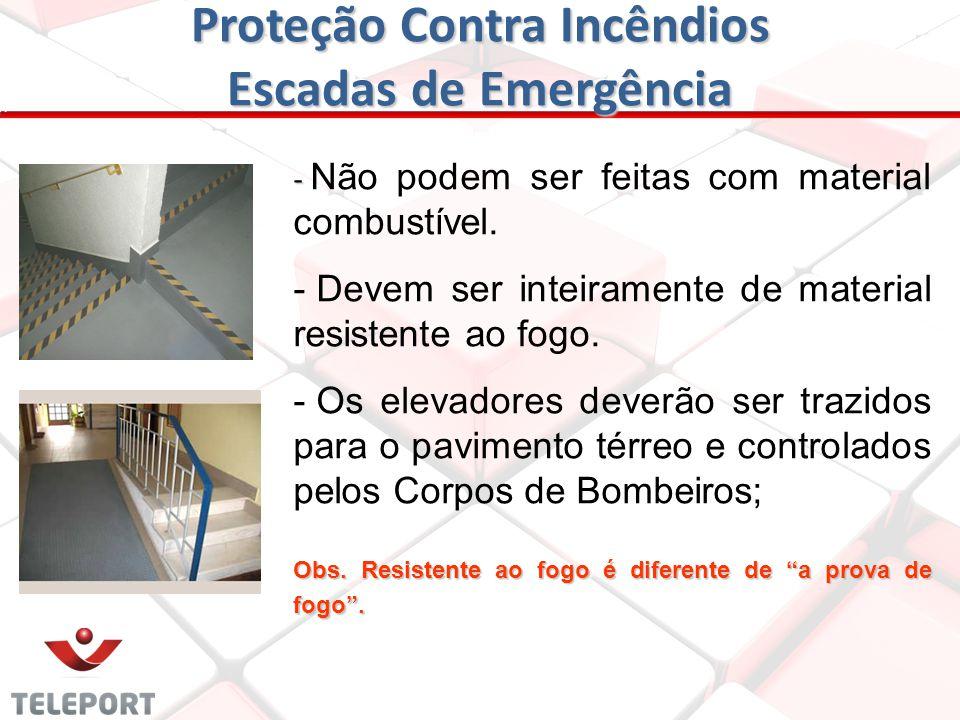 Proteção Contra Incêndios Escadas de Emergência