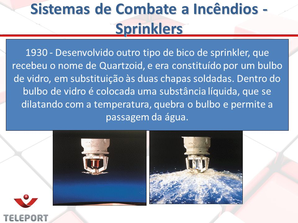 Sistemas de Combate a Incêndios - Sprinklers