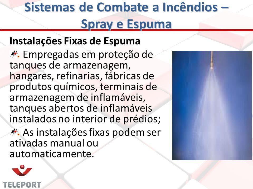 Sistemas de Combate a Incêndios – Spray e Espuma