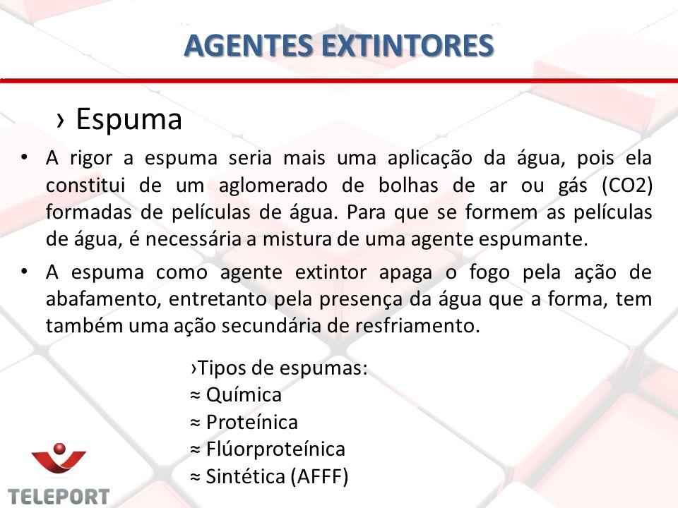 AGENTES EXTINTORES Espuma