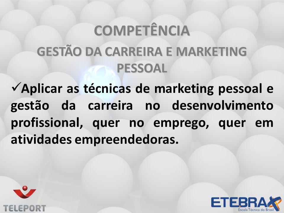 GESTÃO DA CARREIRA E MARKETING PESSOAL