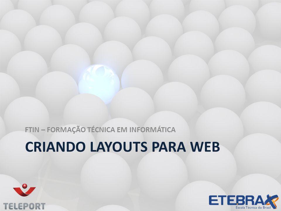 Criando layouts para web
