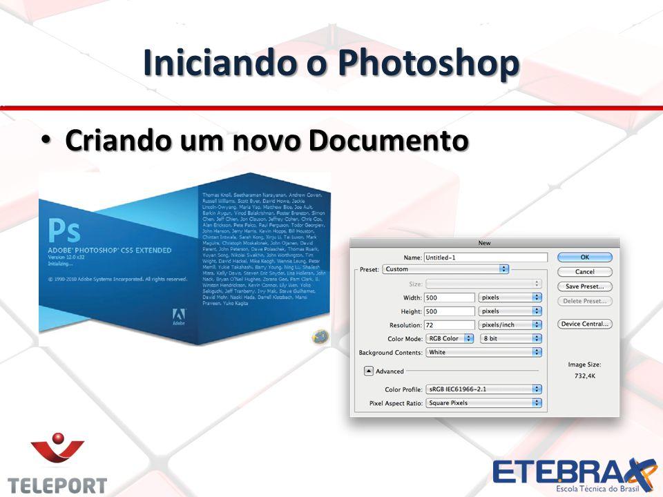 Iniciando o Photoshop Criando um novo Documento