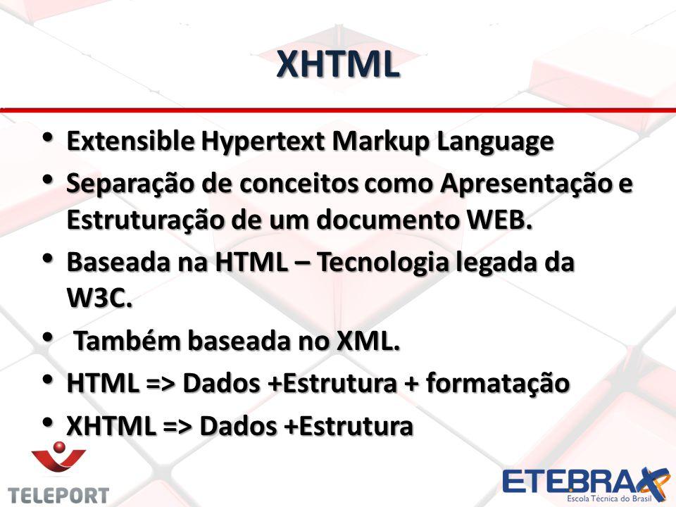 XHTML Extensible Hypertext Markup Language
