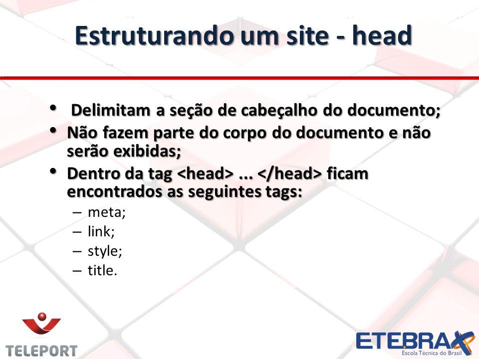 Estruturando um site - head