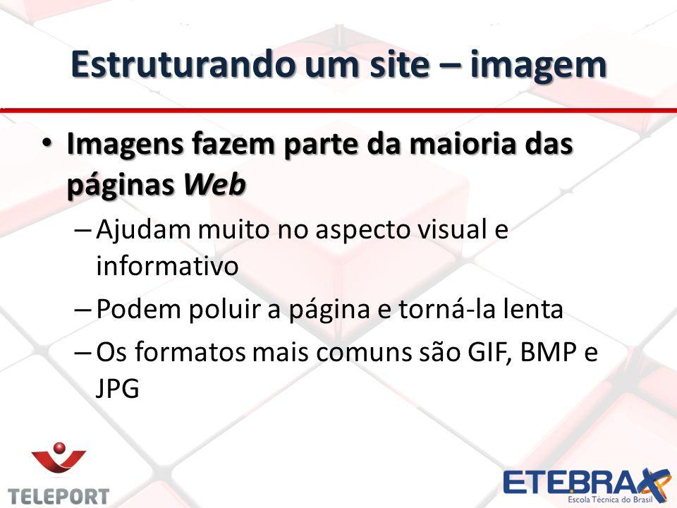 Estruturando um site – imagem
