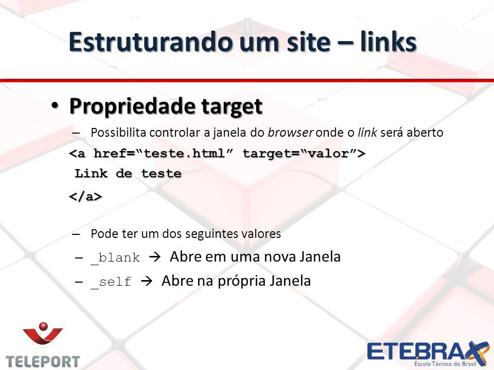 Estruturando um site – links
