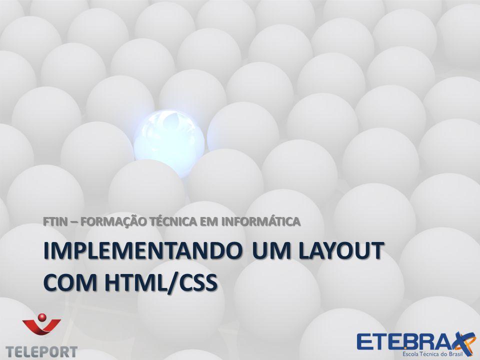 Implementando um layout com html/css