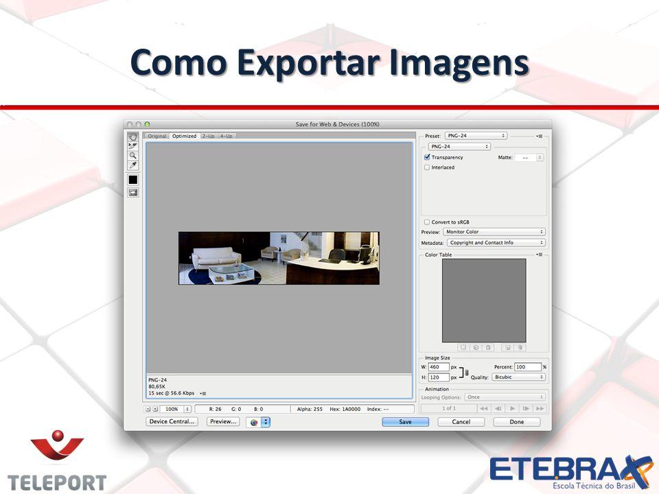 Como Exportar Imagens