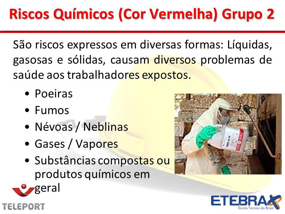 Riscos Químicos (Cor Vermelha) Grupo 2