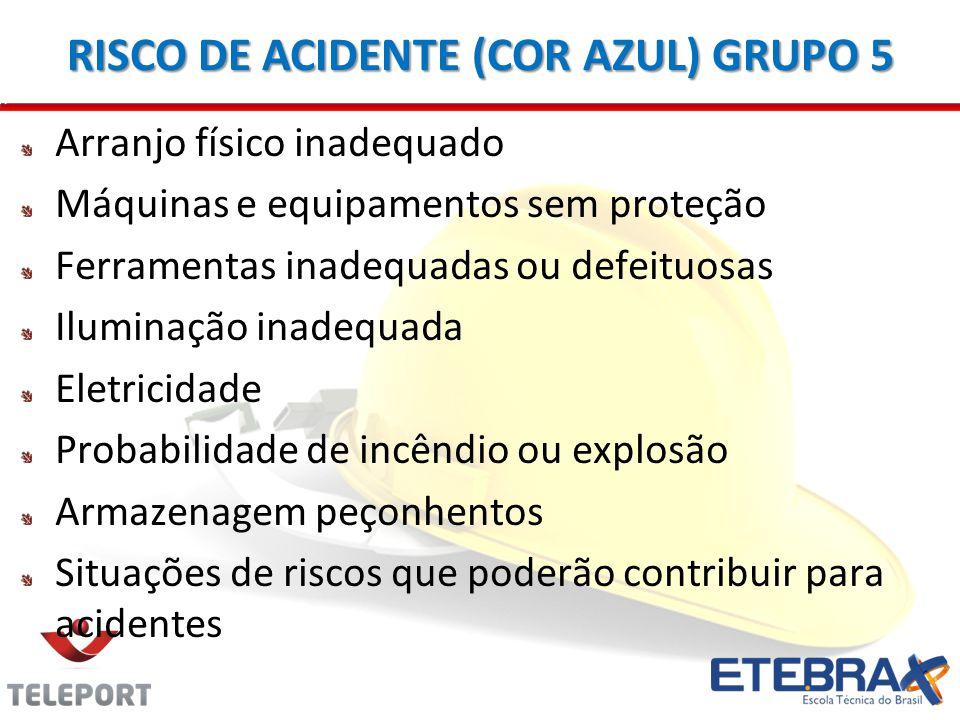 RISCO DE ACIDENTE (COR AZUL) GRUPO 5