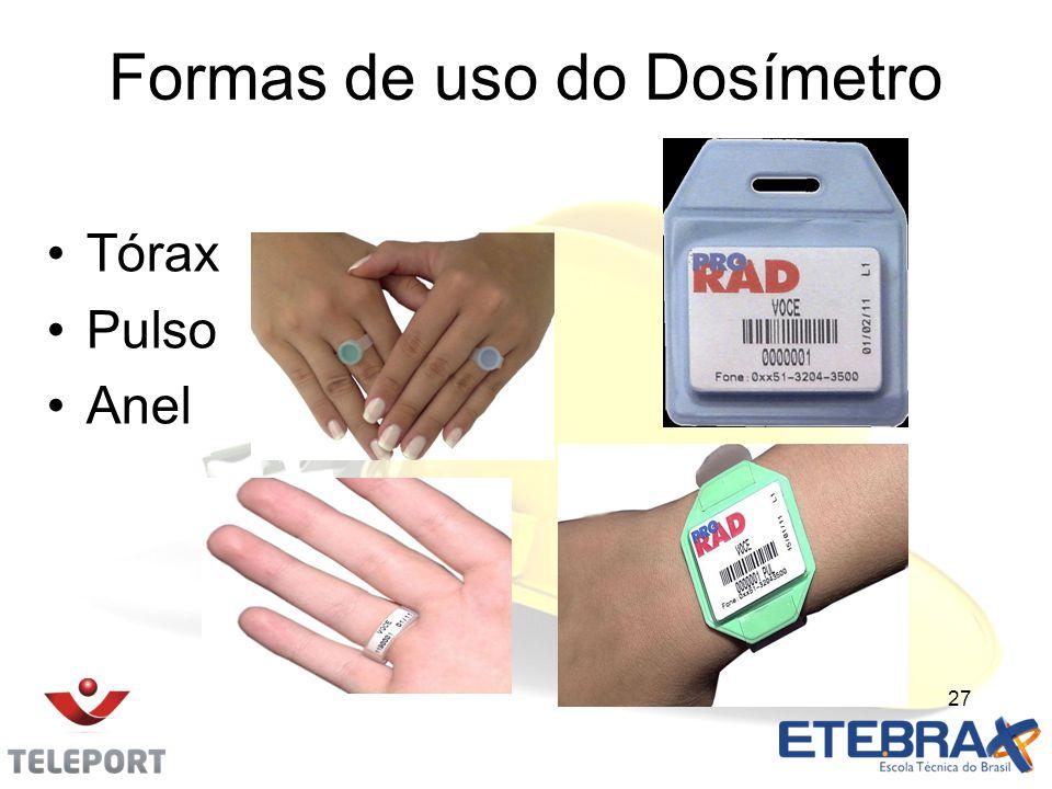 Formas de uso do Dosímetro