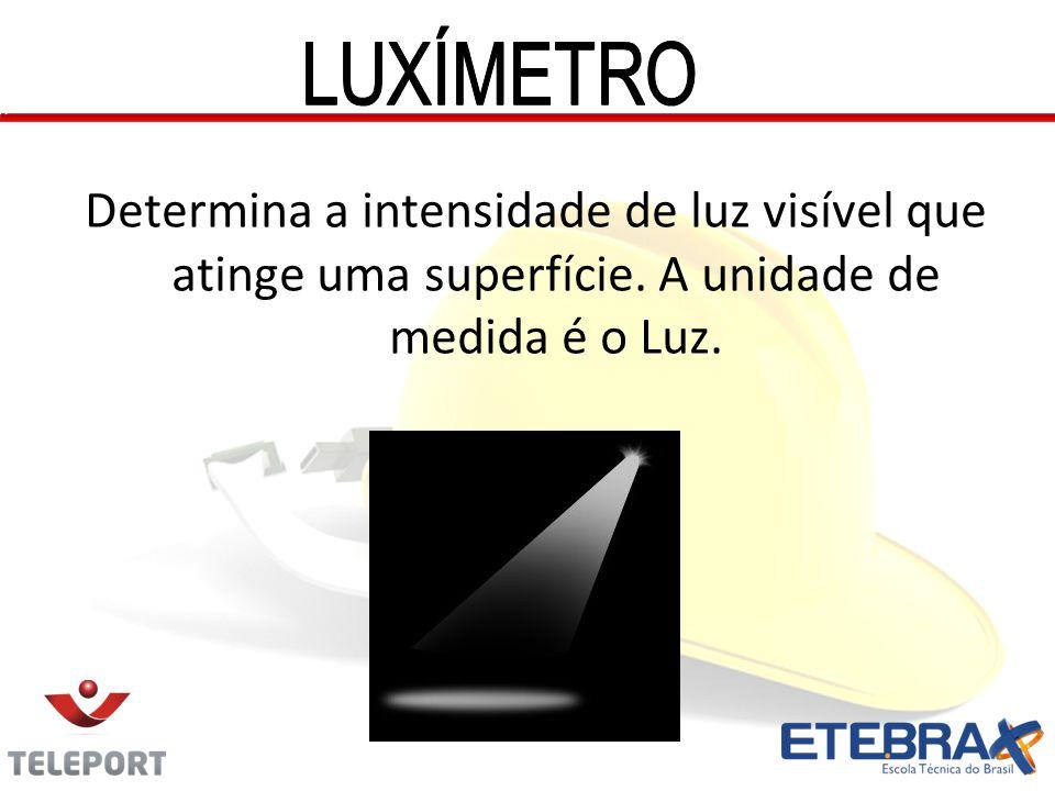 LUXÍMETRO Determina a intensidade de luz visível que atinge uma superfície.