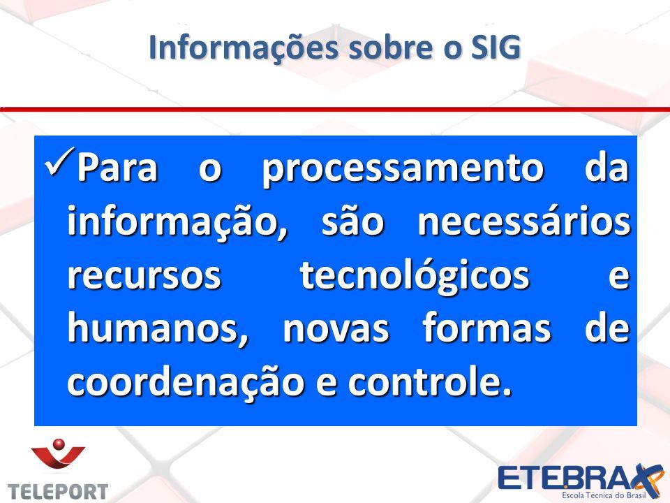 Informações sobre o SIG