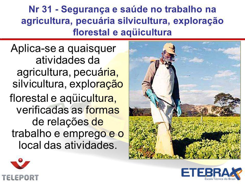 Nr 31 - Segurança e saúde no trabalho na agricultura, pecuária silvicultura, exploração florestal e aqüicultura