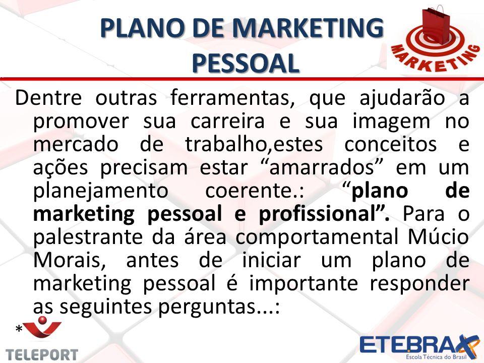 PLANO DE MARKETING PESSOAL