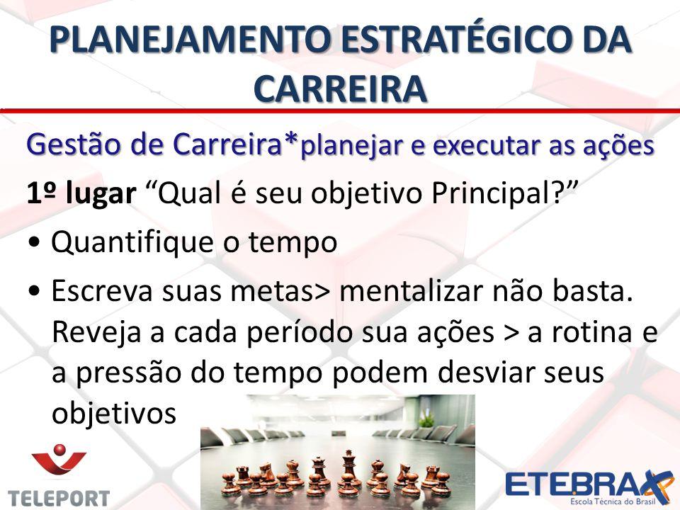 PLANEJAMENTO ESTRATÉGICO DA CARREIRA