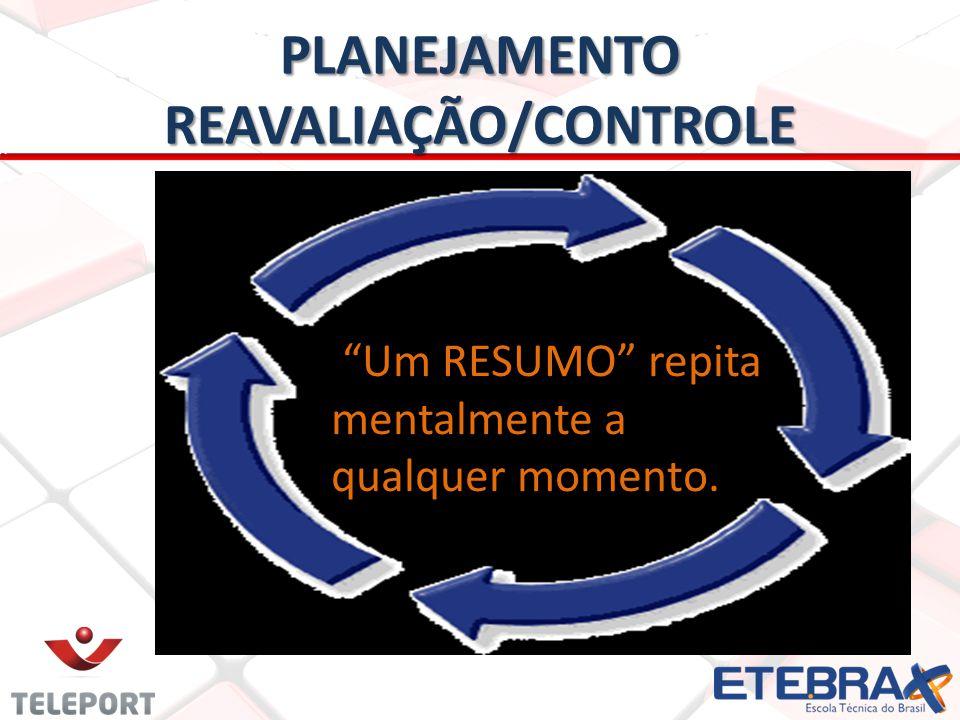 PLANEJAMENTO REAVALIAÇÃO/CONTROLE