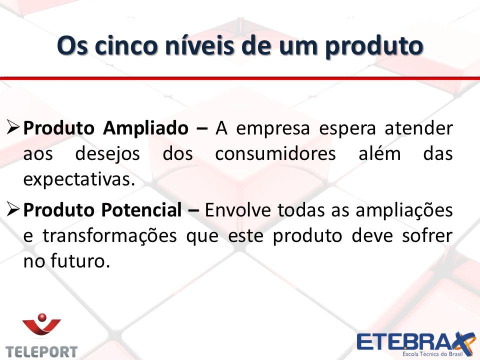 Os cinco níveis de um produto