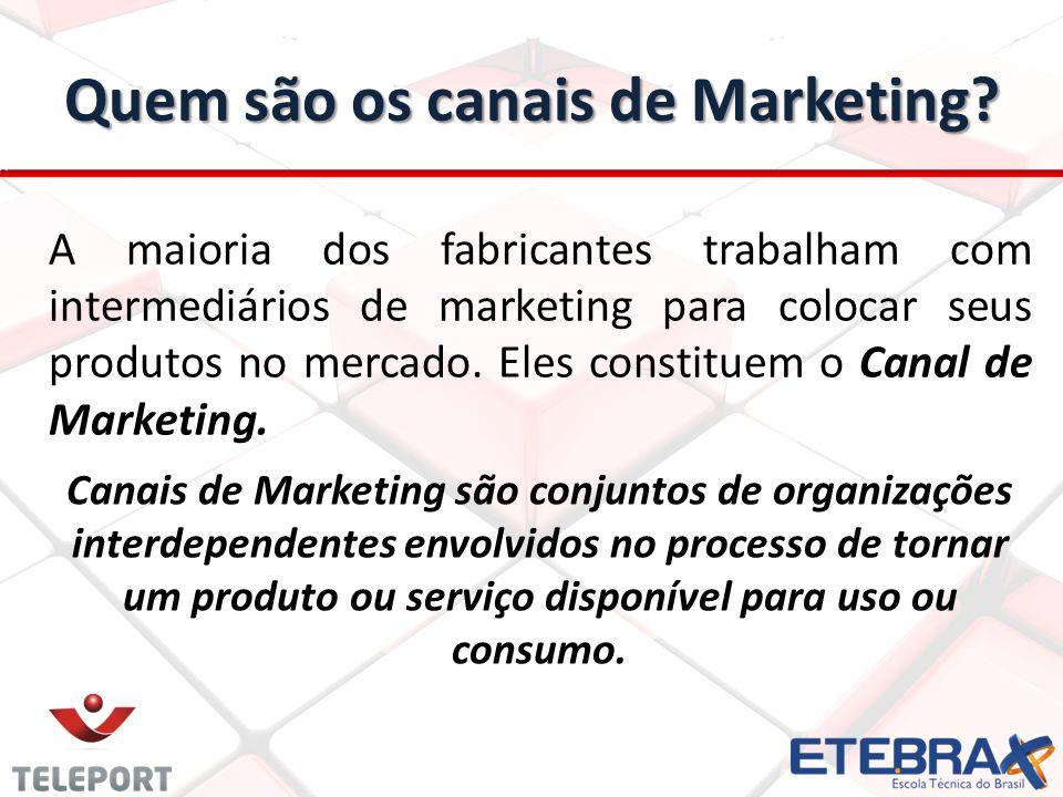 Quem são os canais de Marketing