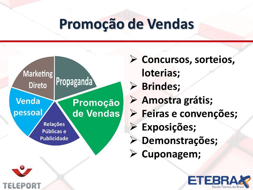 Promoção de Vendas Concursos, sorteios, loterias; Brindes;