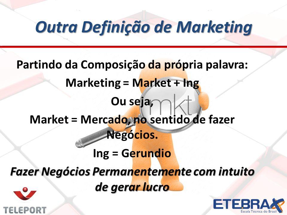 Outra Definição de Marketing
