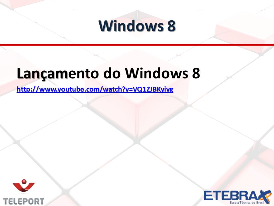 Windows 8 Lançamento do Windows 8