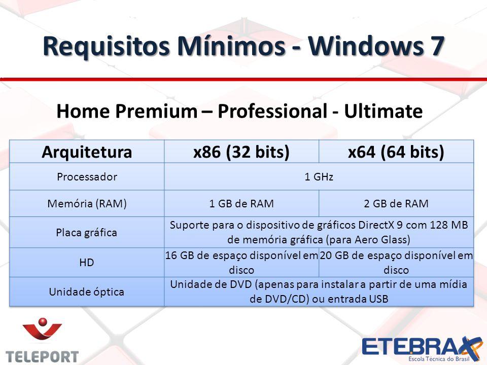 Requisitos Mínimos - Windows 7