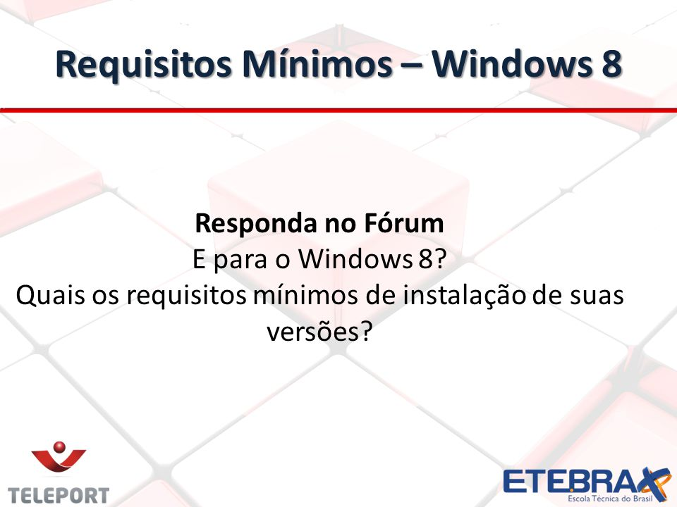 Requisitos Mínimos – Windows 8
