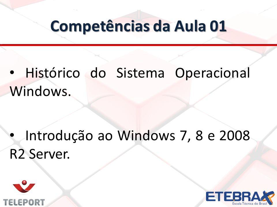 Competências da Aula 01 Histórico do Sistema Operacional Windows.
