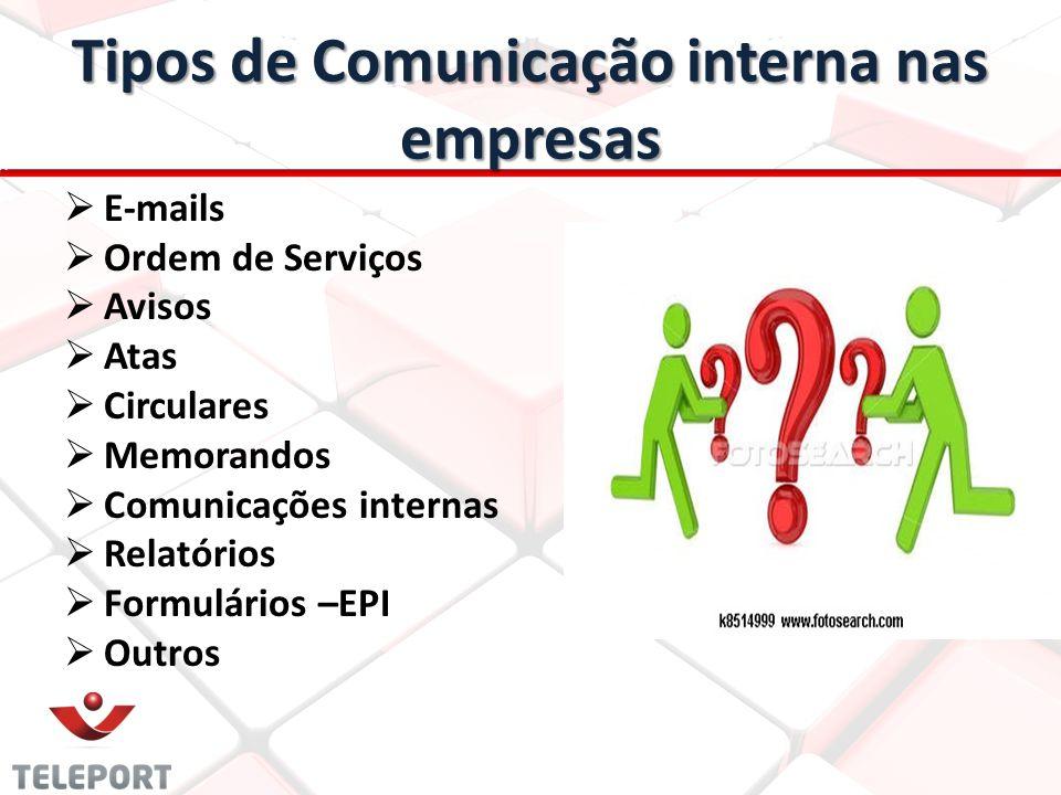 Tipos de Comunicação interna nas empresas