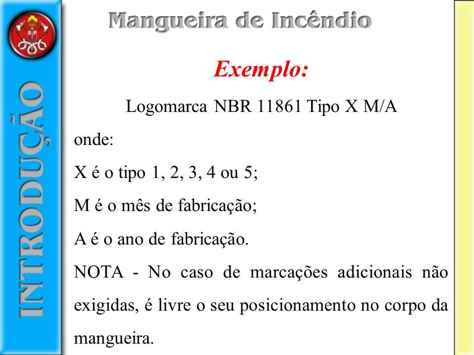 Logomarca NBR 11861 Tipo X M/A