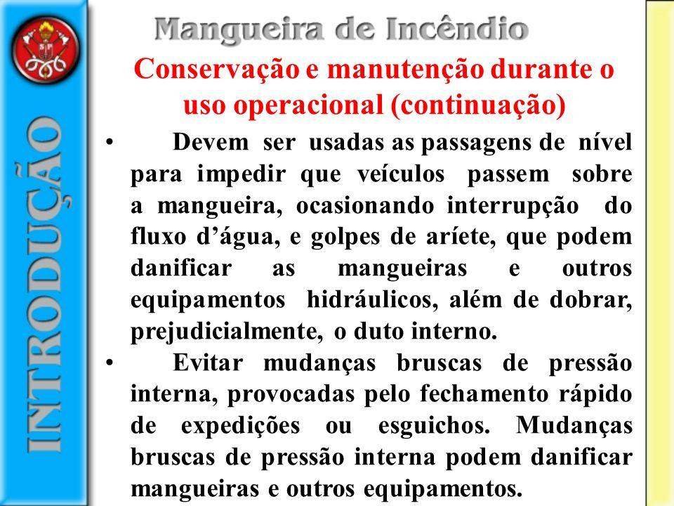 Conservação e manutenção durante o uso operacional (continuação)