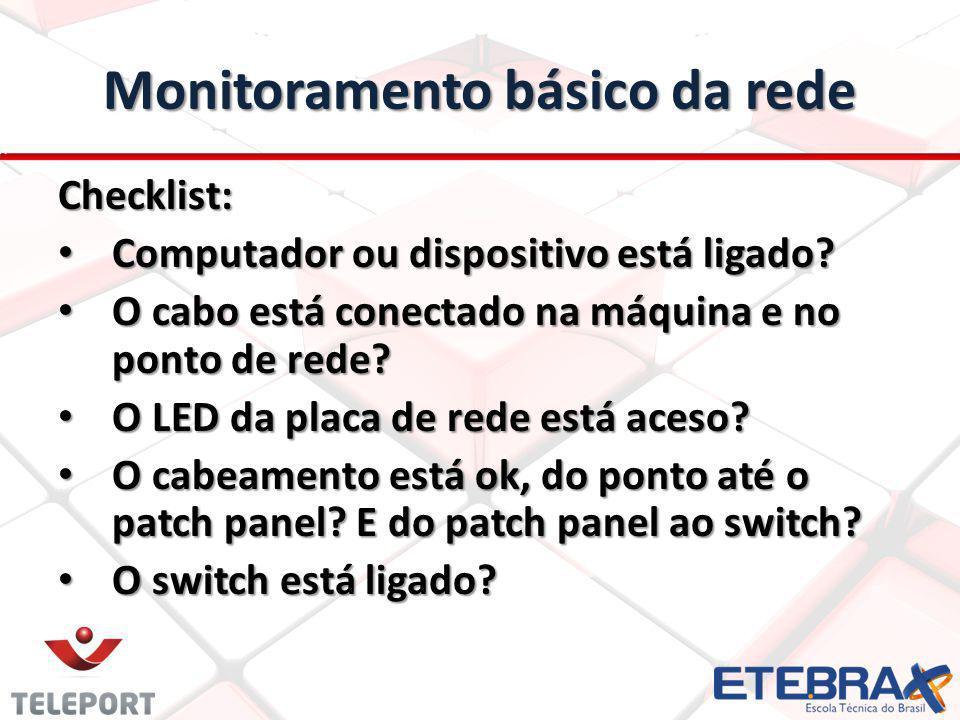 Monitoramento básico da rede