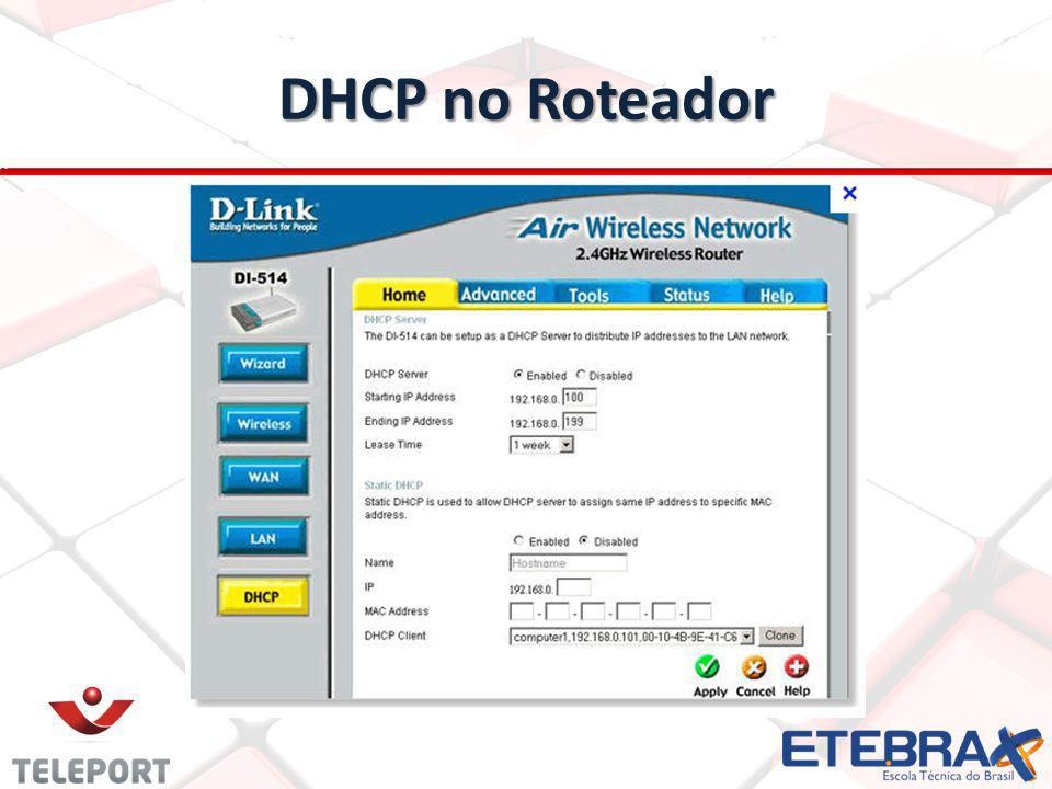 DHCP no Roteador