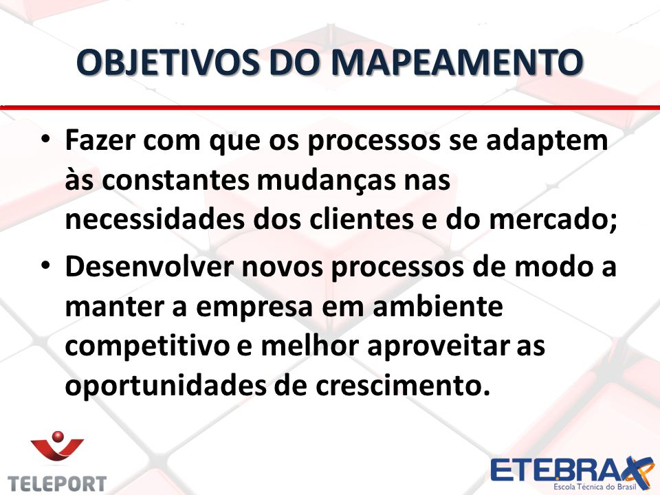 OBJETIVOS DO MAPEAMENTO