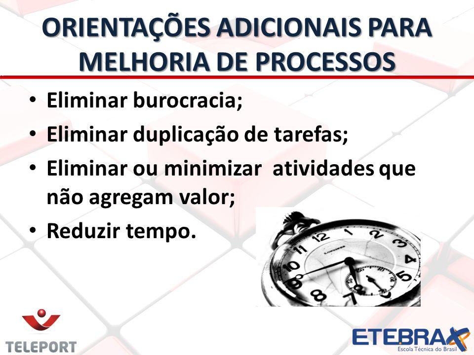 ORIENTAÇÕES ADICIONAIS PARA MELHORIA DE PROCESSOS