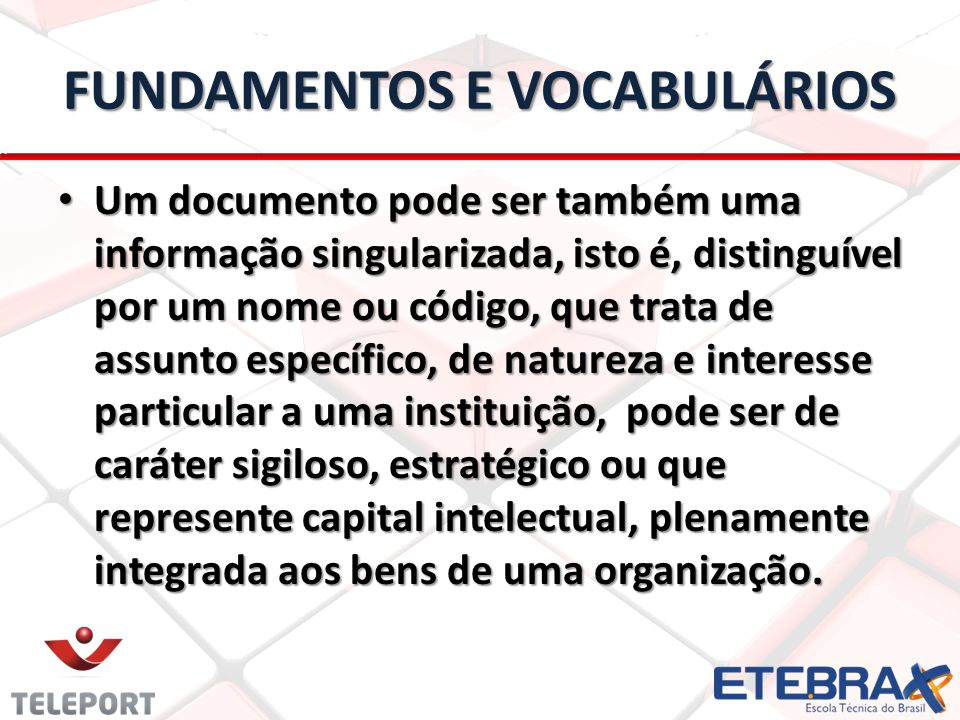FUNDAMENTOS E VOCABULÁRIOS