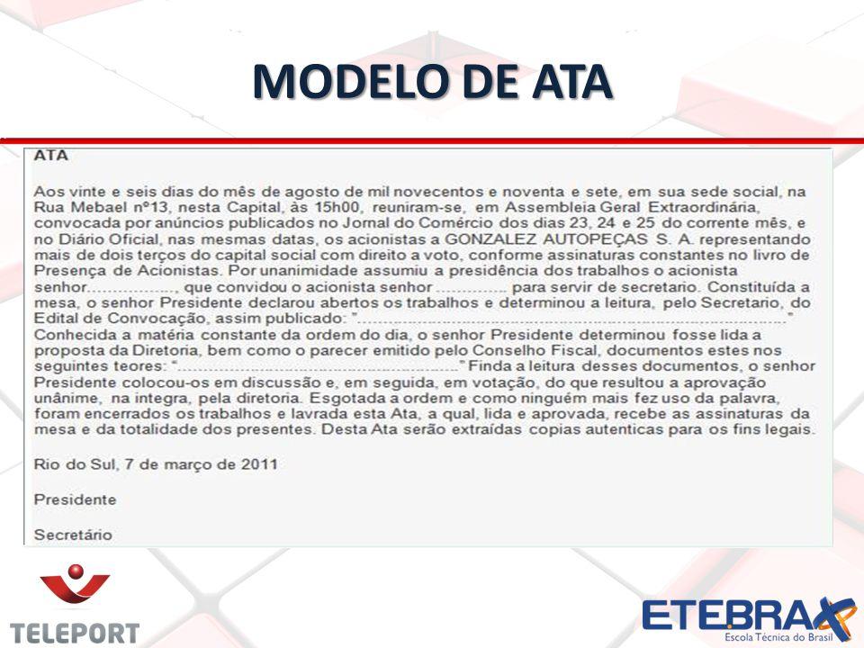 MODELO DE ATA