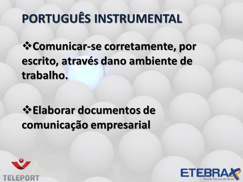 PORTUGUÊS iNSTRUMENTAL