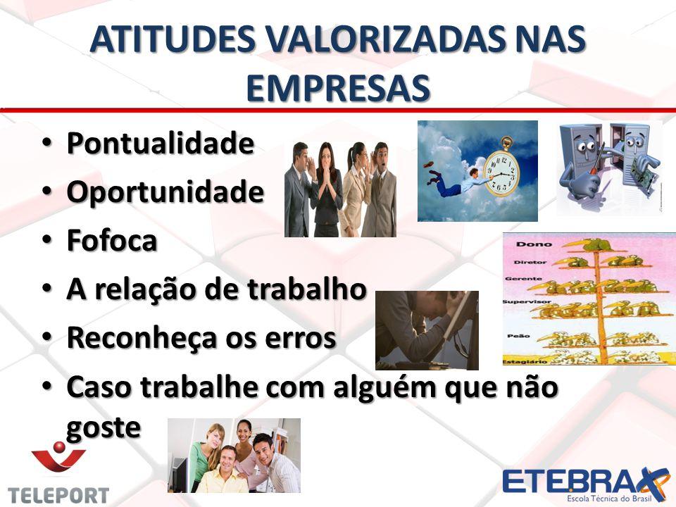 ATITUDES VALORIZADAS NAS EMPRESAS