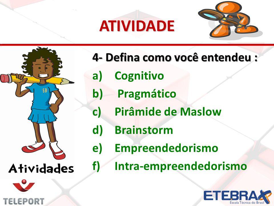 ATIVIDADE 4- Defina como você entendeu : Cognitivo Pragmático