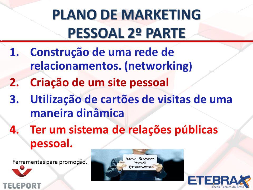 PLANO DE MARKETING PESSOAL 2º PARTE