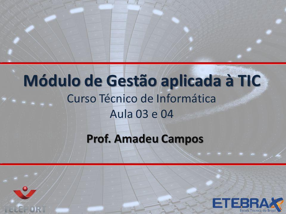 Módulo de Gestão aplicada à TIC Curso Técnico de Informática Aula 03 e 04