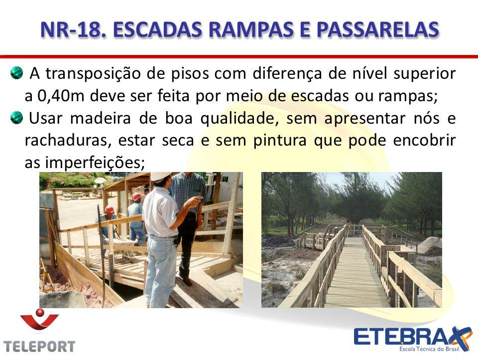 NR-18. ESCADAS RAMPAS E PASSARELAS